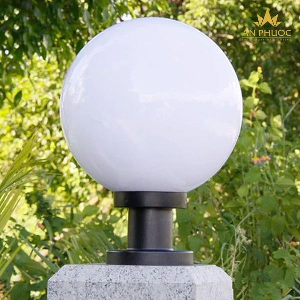 Đèn trụ cổng quả cầu trắng – AP D200