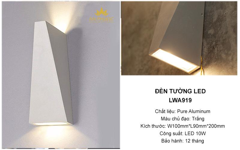 Đèn tường LED – LWA919 (TRẮNG)