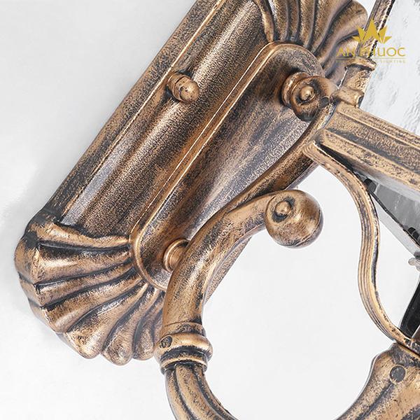 Đèn tường ngoại thất cổ điển màu đồng – AP950 7 Inch