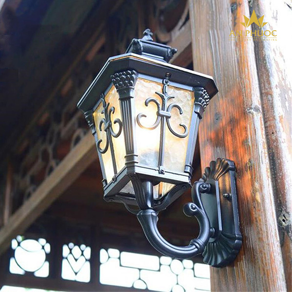Đèn tường ngoại thất cổ điển (ĐEN) 9INCH – AP950