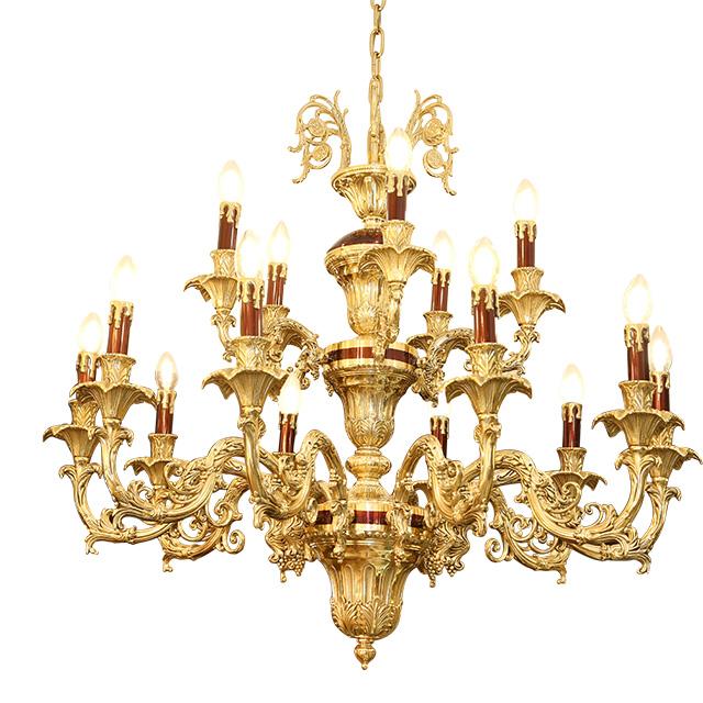 Đèn chùm đồng mạ vàng - sang trọng đẳng cấp 1
