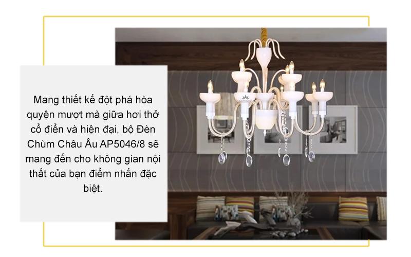 Đèn chùm tân cổ điển Châu Âu – AP5046/8