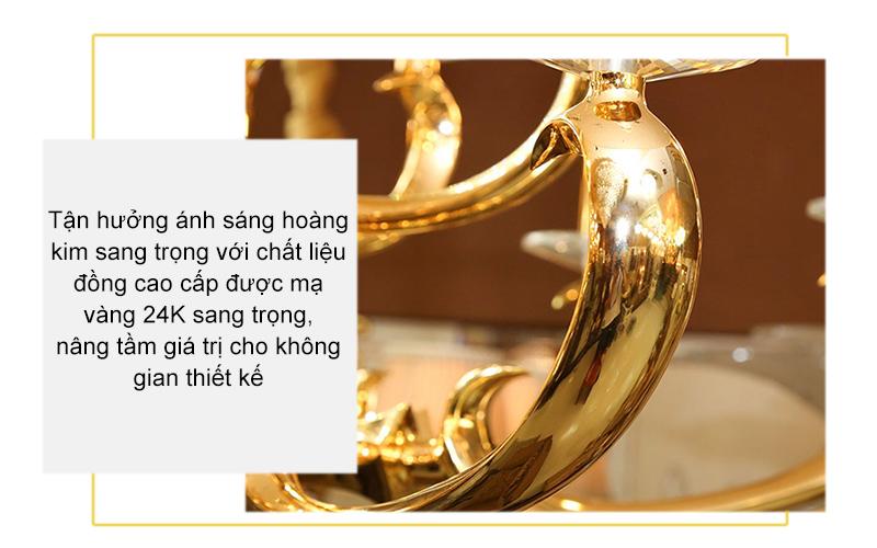 Đèn chùm đồng mạ vàng – AP99802-8