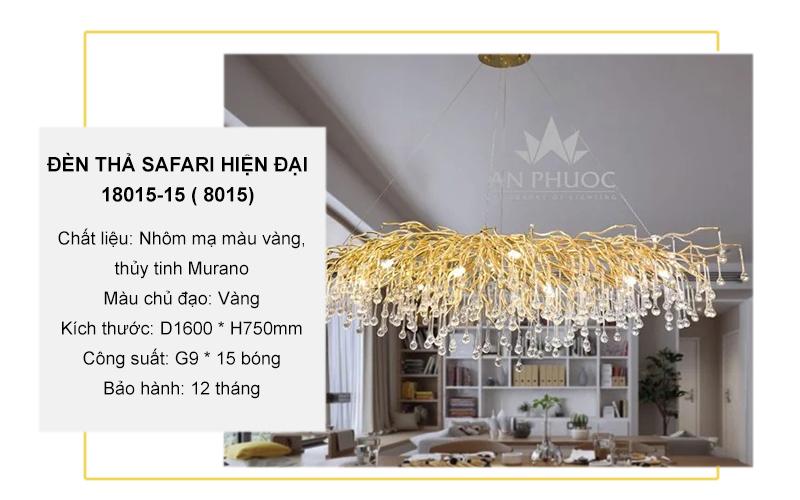 Đèn thả safari hiện đại cho bàn ăn 18015-15 ( 8015)