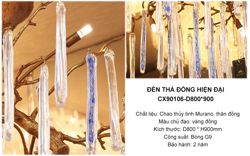 Đèn thả đồng hiện đại – CX90106-D800*900