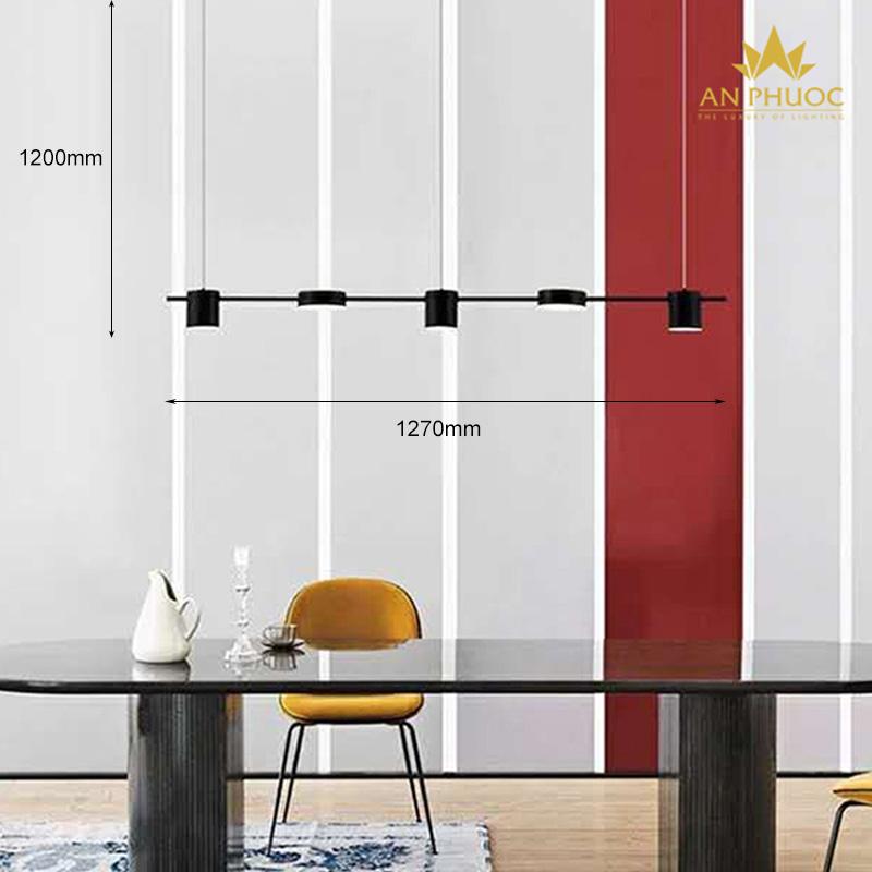 Đèn thả bàn ăn đơn giản – AP1083BK màu đen