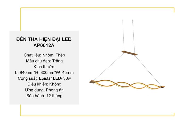 Đèn thả hiện đại LED cách điệu – AP0012A
