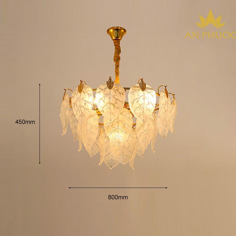 Đèn thả pha lê safari 697-L19 D800*450