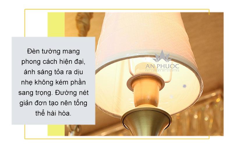 Đèn tường đồng chao vải – TJ6682-2