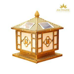 Đèn trụ cổng năng lượng mặt trời 11202A D300 màu vàng