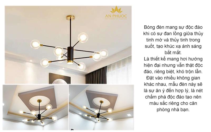 Đèn chùm bóng tròn hiện đại – AP1081