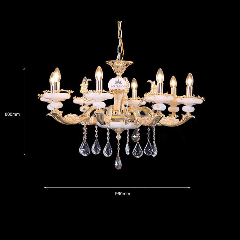 Đèn chùm tân cổ điển mạ vàng – AP90176/8