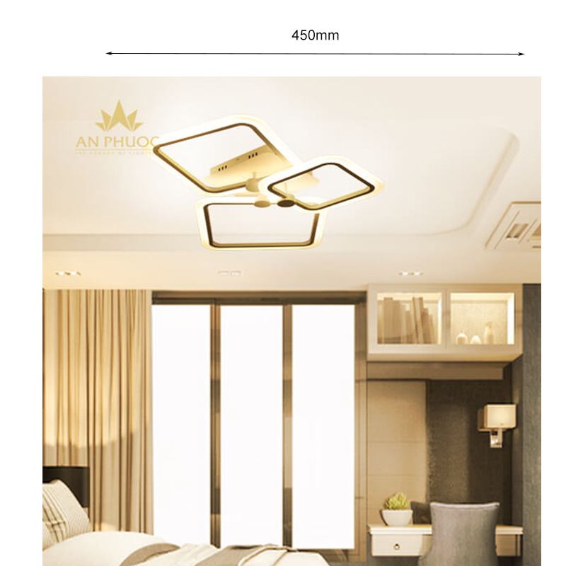 Đèn áp trần LED LX8003-3 D450