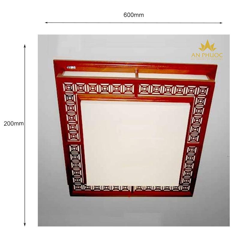 Đèn áp trần gỗ cổ điển – AP7163/600