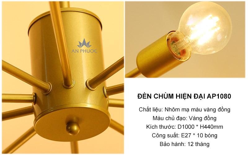 Đèn chùm hiện đại độc đáo khác biệt – AP1080