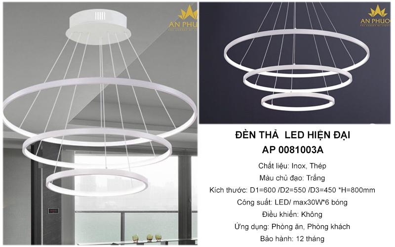 Đèn thả hiện đại xoắn LED – AP 0081003A