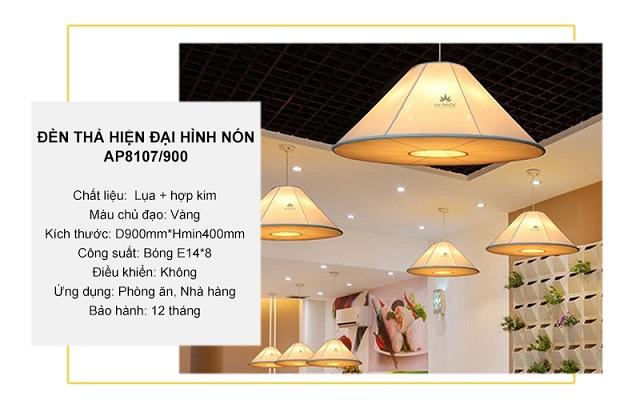 Đèn thả hiện đại hình nón cỡ lớn – AP8107/900