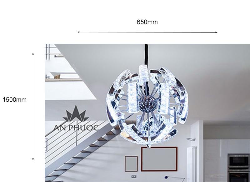 Đèn thả phá cách pha lê – AP8030