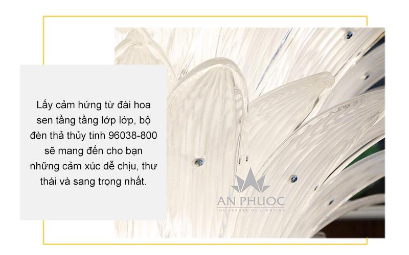 Đèn thả bông hoa thủy tinh – AP96038