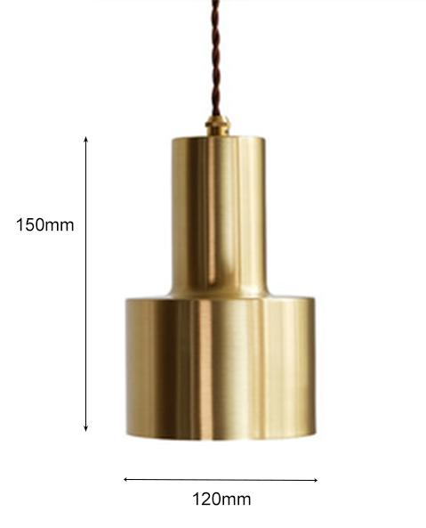 Đèn thả đồng dáng hiện đại T006