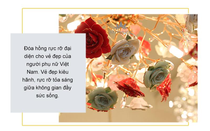 Đèn thả hoa hồng hiện đại – 1118/12
