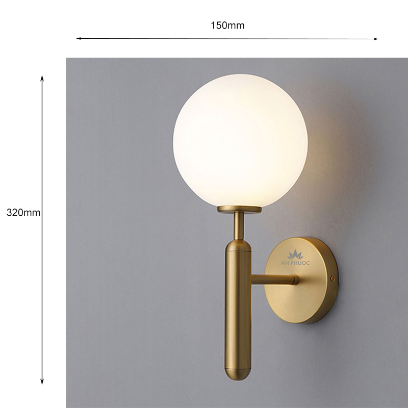 Đèn tường hiện đại màu đồng – APBD-01 (Dáng thấp)