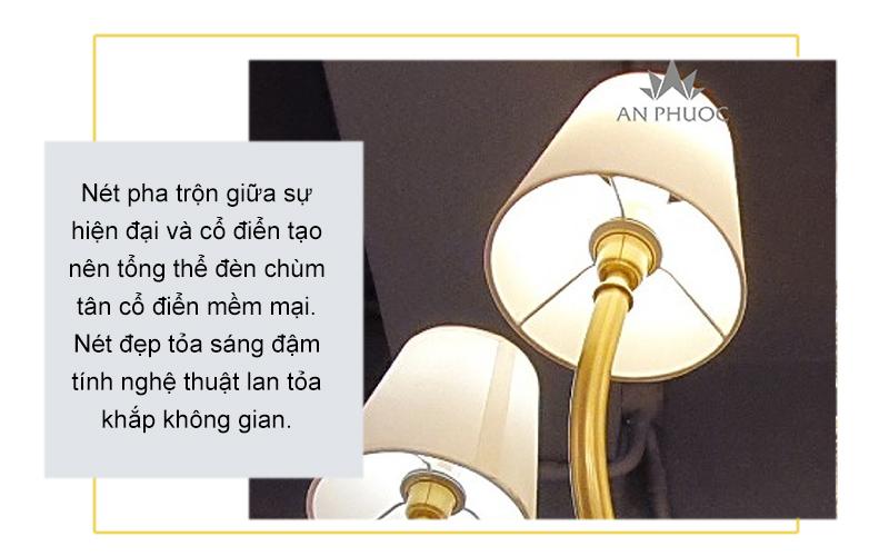 Đèn chùm tân cổ điển 6886-8 D800*450