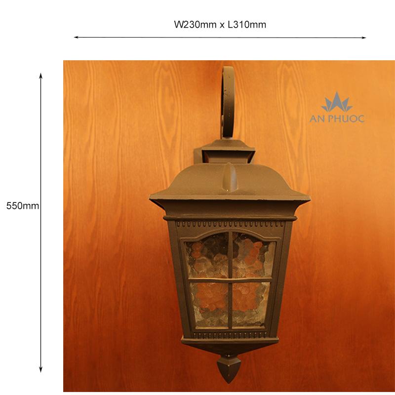 Đèn tường ngoại thất – AP033A (70127 BK) 7 inch Đen