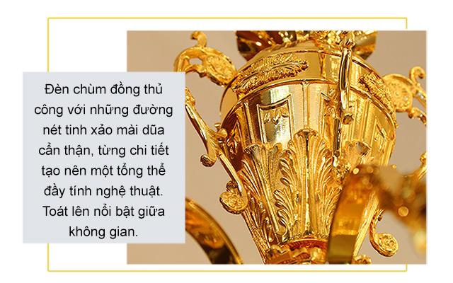 Đèn chùm đồng cổ điển – 18052-8