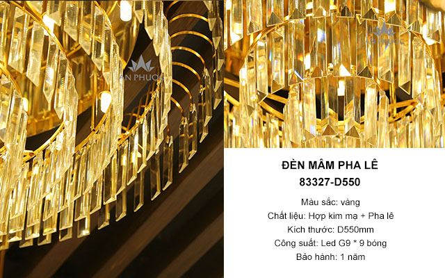Đèn mâm pha lê hiện đại – 83327 D550