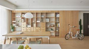 Khu đọc sách được tích hợp tủ chứa nhiều đồ tiện dụng tận dụng không gian -1