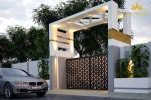 Mẫu cửa cổng đẹp mang phong cách hiện đại mang đến một cái nhìn mới lạ