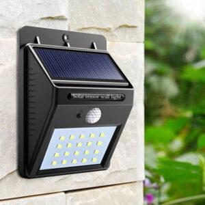 Đèn tường trang trí năng lượng mặt trời hiện đại